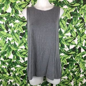 Athleta Gray Side Slit Tank Top